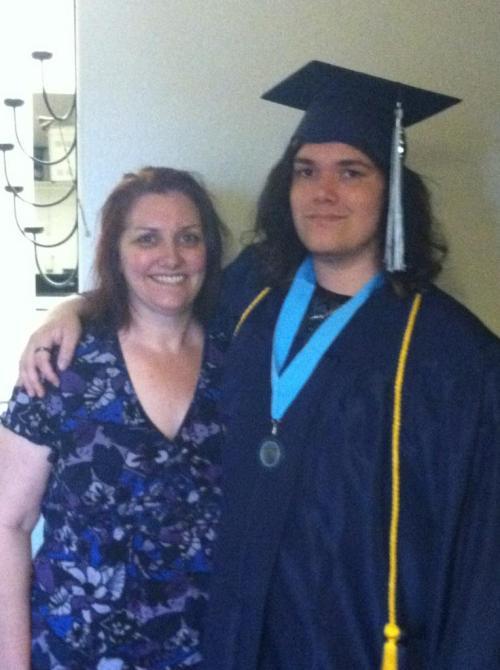 Tina & D graduation